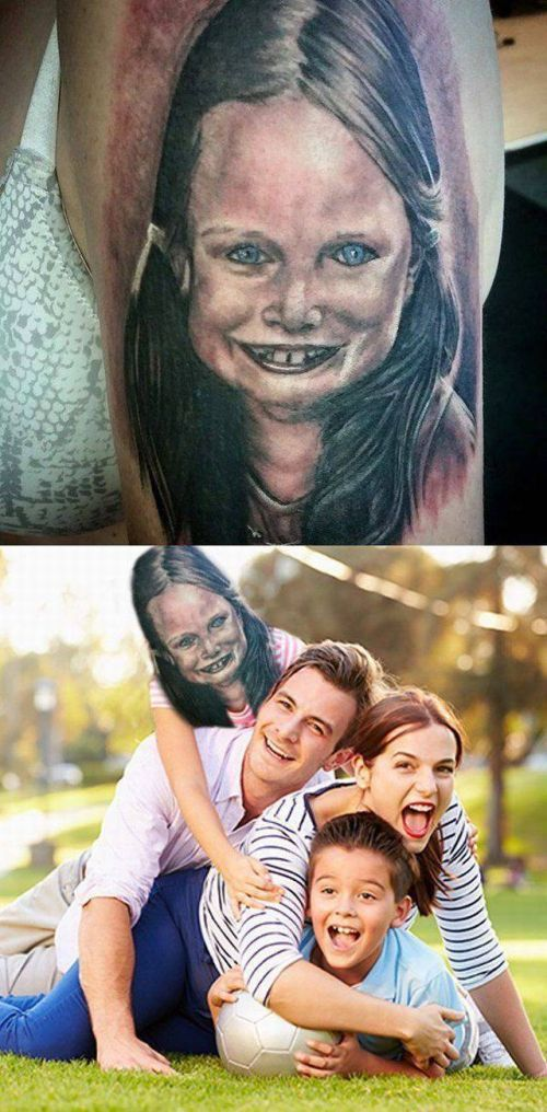 When your bad portrait tattoo comes to life.