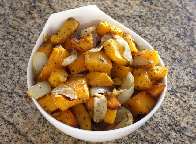 Roasted Butternut Squash With Onions and Sage