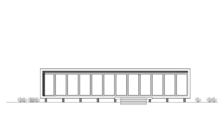 Casa B8,Elevación Frontal