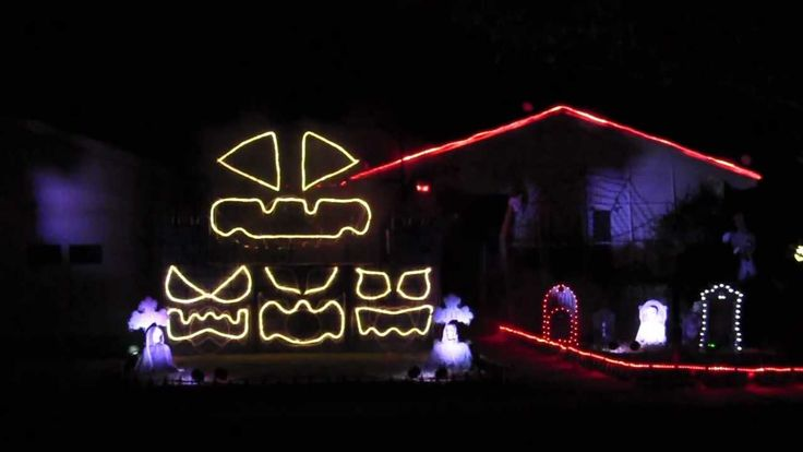 halloween light show california