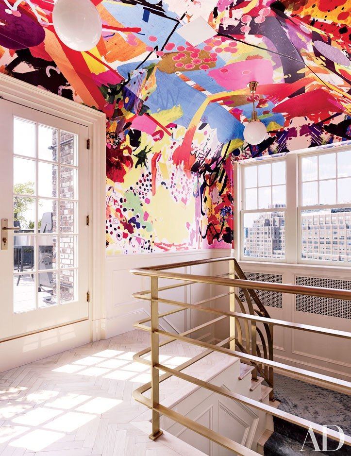 25 colorful rooms from the ad archives manhattan penthouseceiling ideasroom decorating