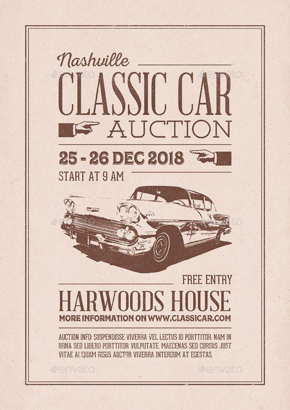 Classic Car #Auction #Flyer/Poster - Miscellaneous Events Event