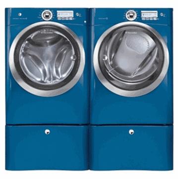 Electrolux Mediterranean Blue Front Load Washer Dryer Set