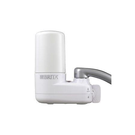 Brita Basic On Tap Faucet Water Filter System, White