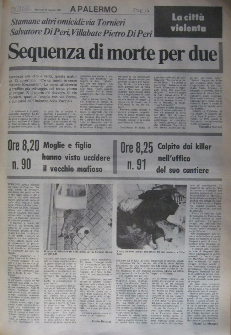 10 agosto 1982, L'Ora