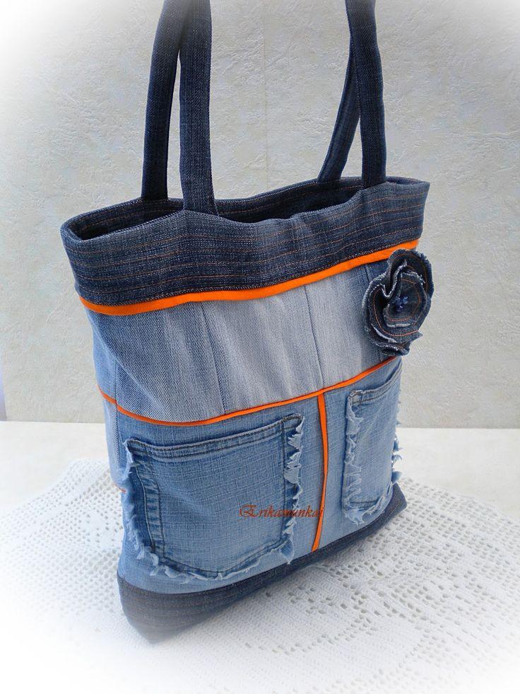 Denim bag | Recycled Jeans BAGS! | Pinterest