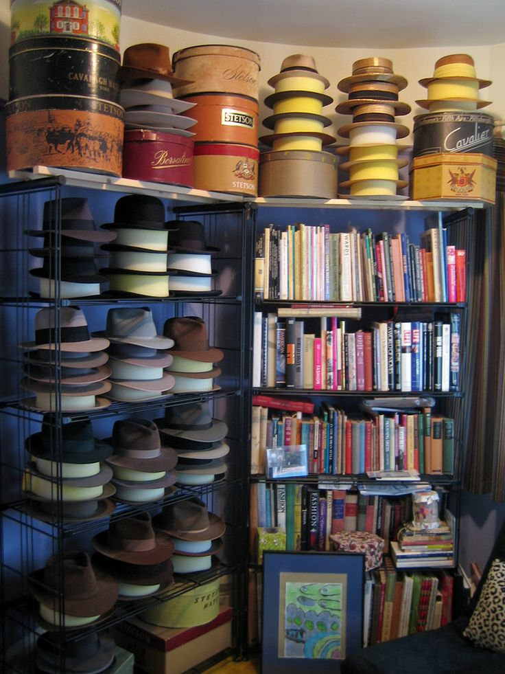 7 best images about hat storage ideas on pinterest hat for Hat storage ideas