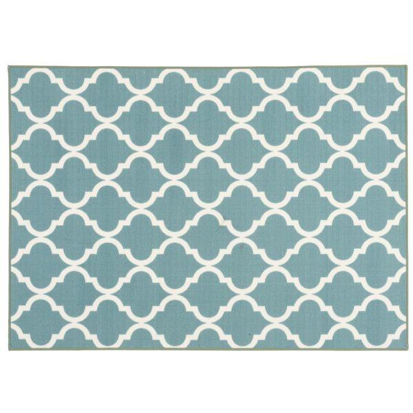 Matta Aladdin med tryckt mönster. Finns i flera, olika färger. Gummerad baksida som gör att mattan ligger på plats. Polyamid, mått: 133x185 cm.