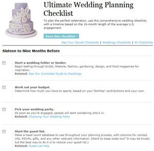 Free, Printable Wedding Planning Checklists: Real Simple's ...