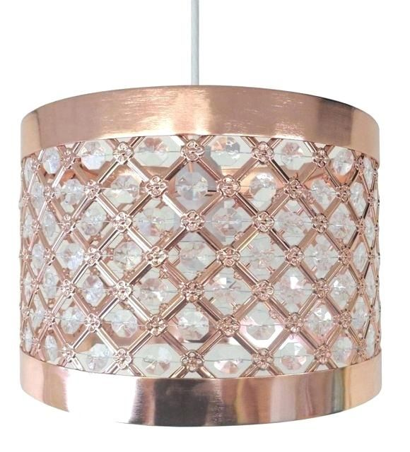 Rose Gold Lamp Shade Rose Gold Bedroom Accessories Sparkly Ceiling