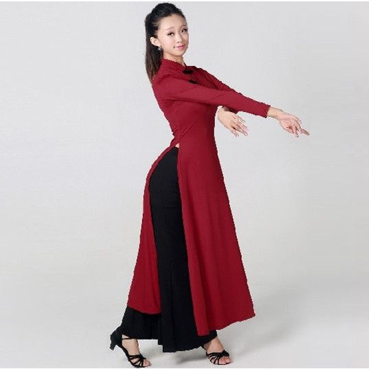 Ucuz Kadın geliştirilmiş uzun cheongsam Çin klasik dans kostümleri özelleştirmek uzun kollu lady Vietnam Bornozlar geleneksel aodai, Satın Kalite çince halk dansı doğrudan Çin Tedarikçilerden: boyut Grafikboyutubüstübelomuz Genişliğikol UzunluğuRobe UzunluğubirimCMCMCMCMCMS72-8254-6632-3553124M78-9064-7634-38541