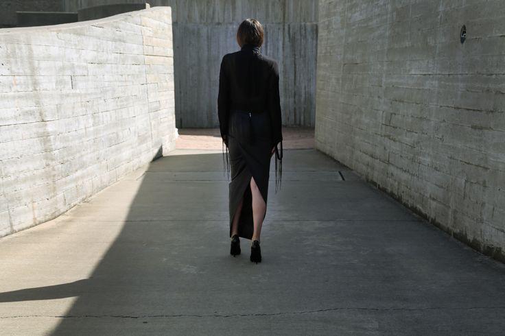 Black Is Back - Ann Demeulemeester Blouse & Rick Owens Skirt