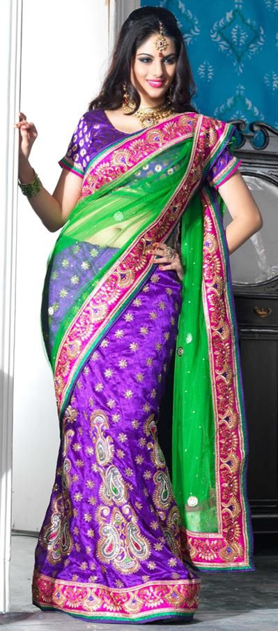 Lehenga Saree, Buy Lengha Saree/Sari, Indian Lehenga Saree Online - Indian Cloth Store