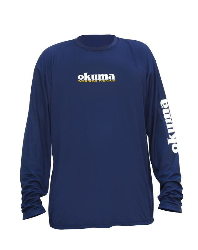 Okuma+Fishing+-+Long+Sleeve+Navy+Technical+Shirt:+