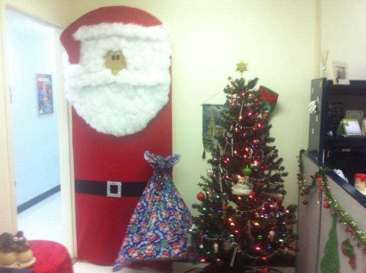 Holiday decorating door contest.