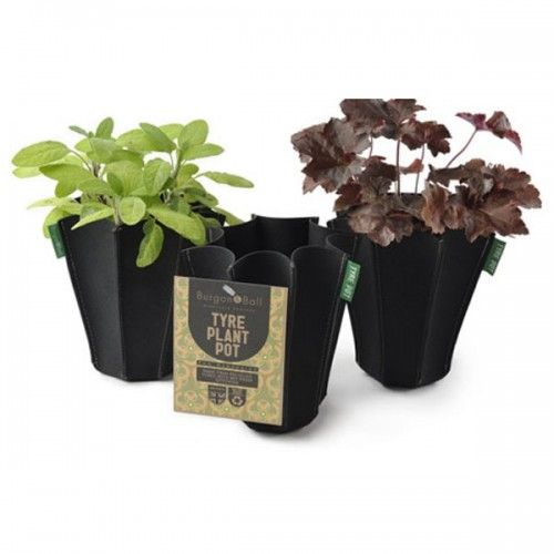 Burgon and Ball Tyre Plant Pot $17.95 - stylish plant pot for indoor or outdoor use made from recycled tyres #plantpots #giftsformen #gardeninggifts