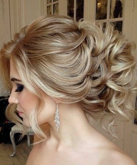 Curly loose updos for thin hair