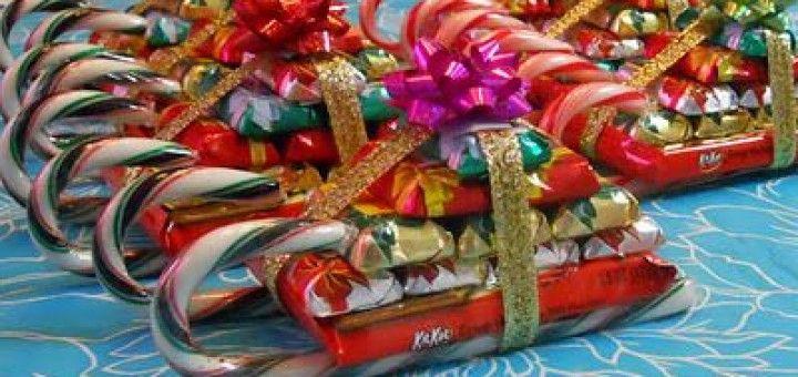 Trineos de dulces para Navidad