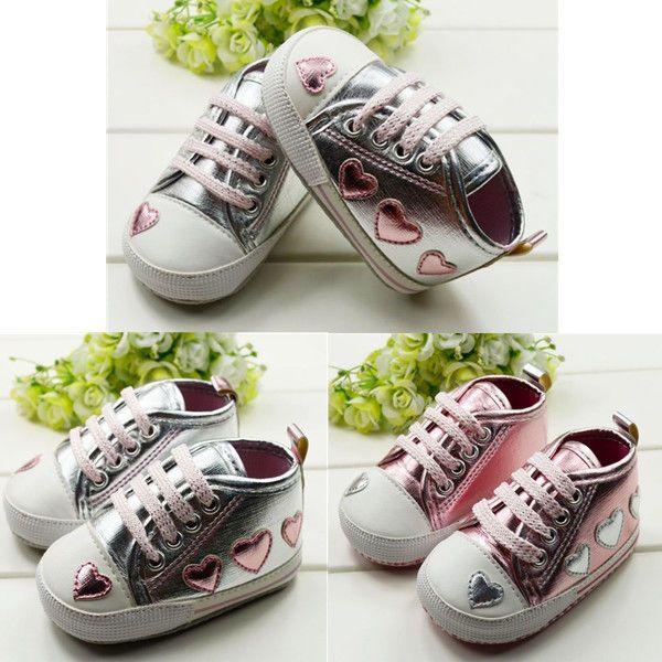 Chaussons Cuir Bébé Chaussures Lacets Semelle Souple Fille Antidérapant Baskets