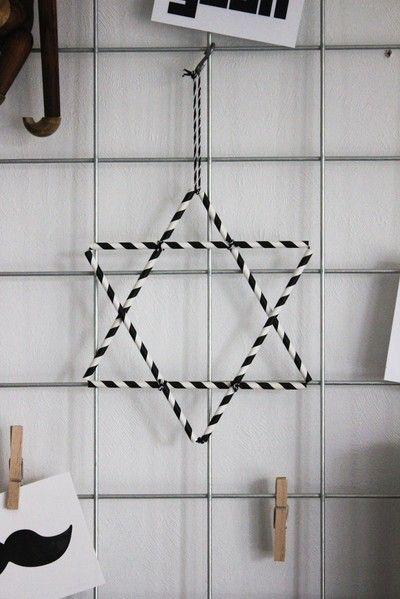 DIY - Julstjärna av sugrör - Inspiration & design