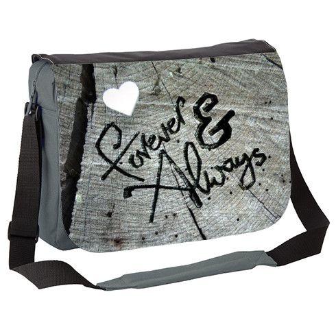 Forever and Always 2 Messenger Bag by sparkart at zippi.co.uk