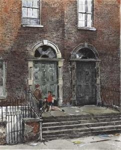 Flora H. Mitchell - Doorways In Bride Street, Dublin