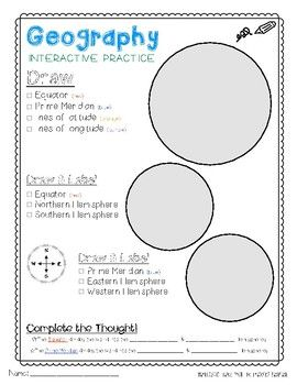 Worksheets Absolute Location Worksheet 17 best ideas about geography interactive notebook on pinterest practice this graphic organizer can be used as a introductory activity before teaching absolute