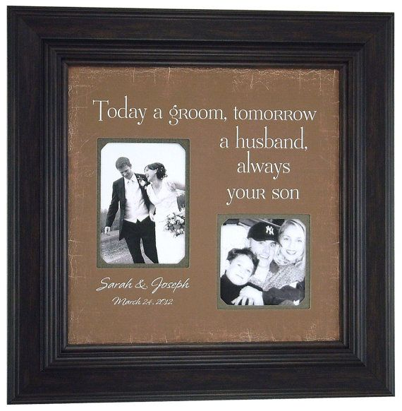 Personalized Father of the Bride Gift, Today A Groom, Father of the Bride, Personalized Picture Frame, Dad Gift from Daughter, 16×16