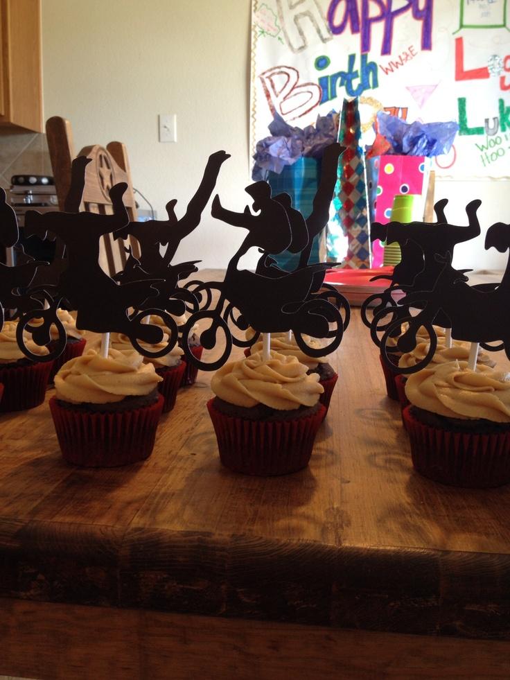 Motocross Cupcakes