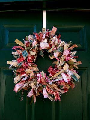 Inspiring Creations: Rag Wreath Tutorial
