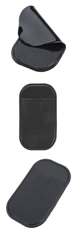 AUTO Silica Gel Anti-Slip Car Dashboard Non-slip Mat Magic Sticky Pad for Phone PDA mp3/4 (Black)