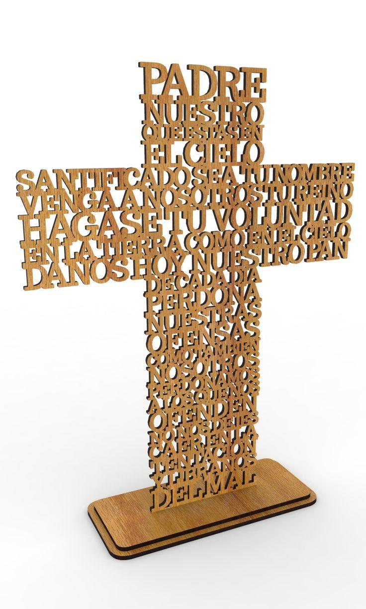 Vector corte laser cruz oración padre nuestro #etsy