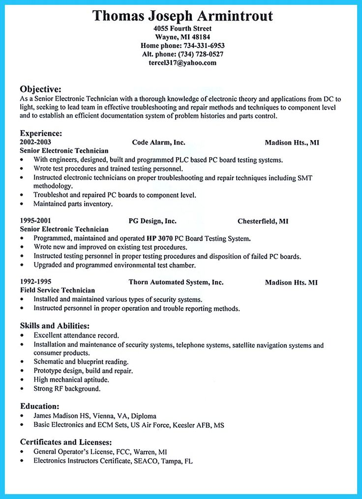 are you trying to make the best cable technician resume