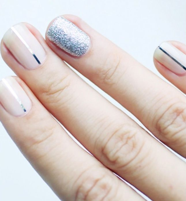 Upgrade your mani with one sparkly accent nail.