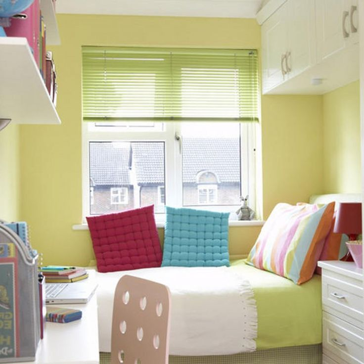Green And Yellow Room Amazing Small Room Storage Ideas