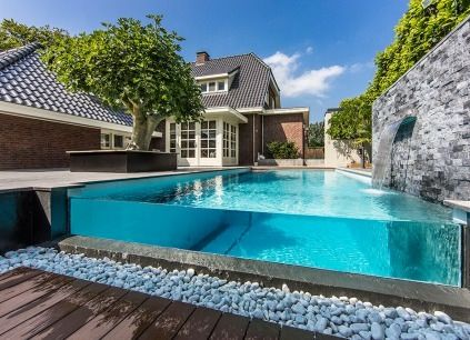 Glass walled Pool