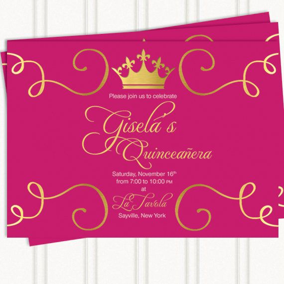 quinceaera invitaiton sweet 16 birthday by