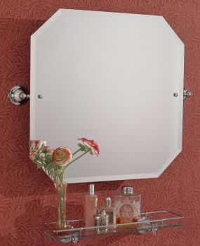 Traditional Octagonal Bathroom Mirror