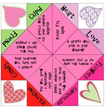 Origami Fortune Teller Printable Template