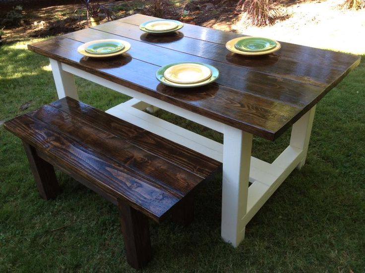 Our Simple Farmhouse Table is simular to our Traditional Farmhouse Table. However, key differences are size of boards on top and the Simple Farmhouse Table does not have breadboards. They are built using the same method. Standard size is 6′ x 38″. Like all of our pieces, this can be custom built to your measurements.