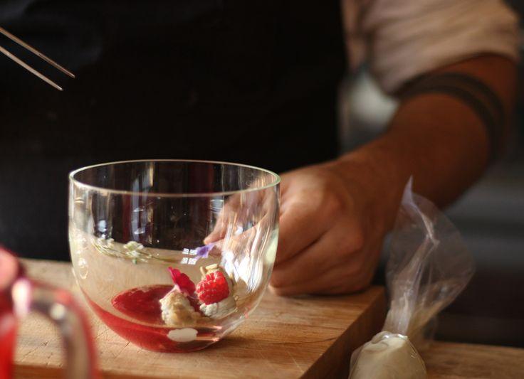 Gaspacho de framboesa, uma das sobremesas do novo menu do O Leão Vermelho