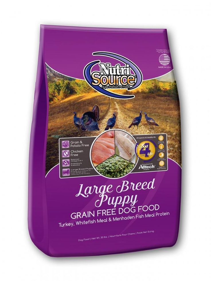 Nutrisource Grain Free Large Breed Puppy Recipe Dry Dog Food Dry