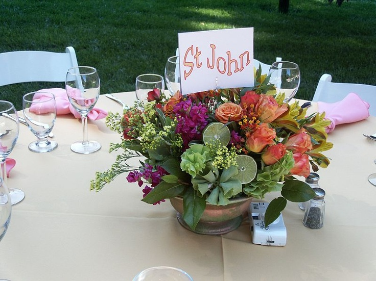 tropical centerpiece with limes wedding ideas wedding table centerpiece ideas pinterest