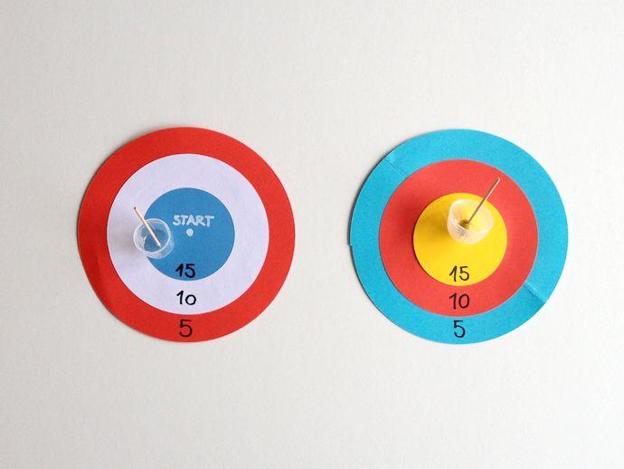 Maak je eigen spelbord // DIY Spinning Top Game Boards
