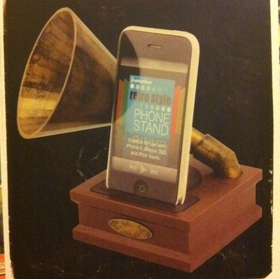 Gramophone iphone dock