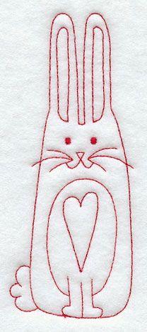 País Bunny (Redwork)