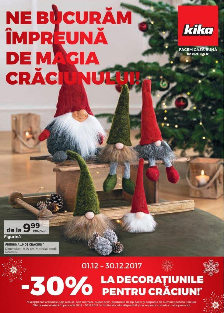 Catalog Kika Magia Craciunului 01 - 30 Decembrie 2017! Oferte si recomandari: potpurri 4,99 lei; set 12 globuri Gold 8,99 lei; decoratiune Lumanare