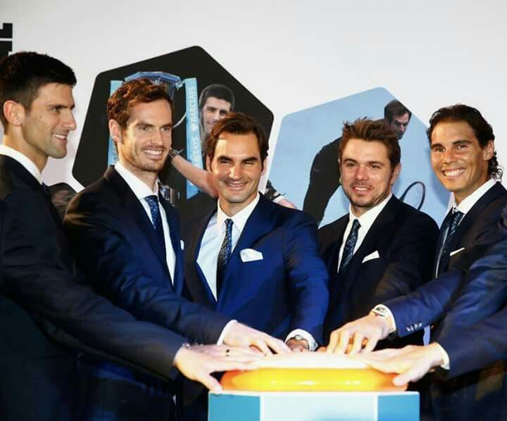 From Monday, the Top 5 in the Ranking will be :  1: Andy Murray  2: Novak Djokovic 3: Stan Wawrinka  4: Roger Federer 5: Rafael Nadal