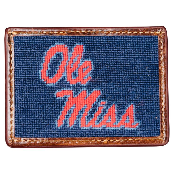 Ole Miss Needlepoint Card Wallet