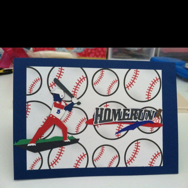 Baseball Themed Birthday Card
